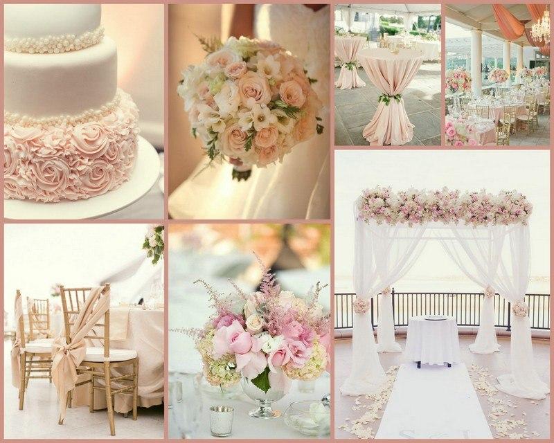 романтична сватба в розово