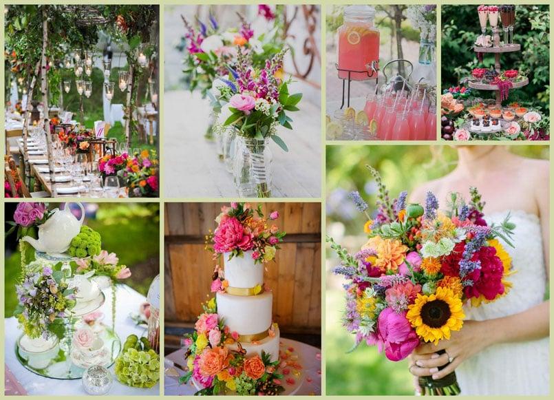 пролетна сватба на открито